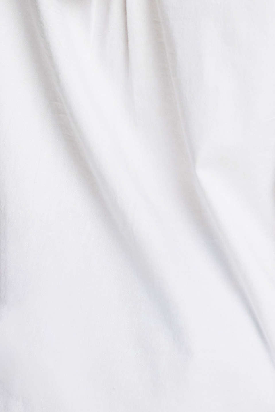 Shirt blouse made of 100% cotton, WHITE, detail image number 4