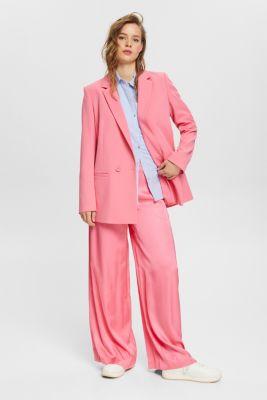 Shirt blouse made of 100% cotton, LIGHT BLUE, detail