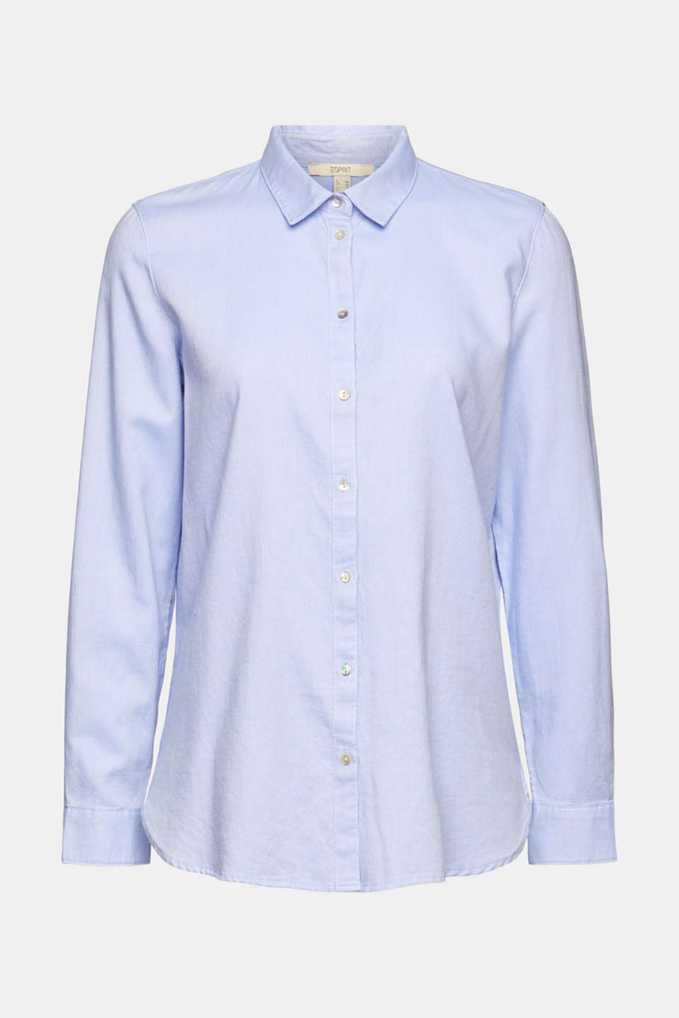 Shirt blouse made of 100% cotton, LIGHT BLUE, detail image number 7