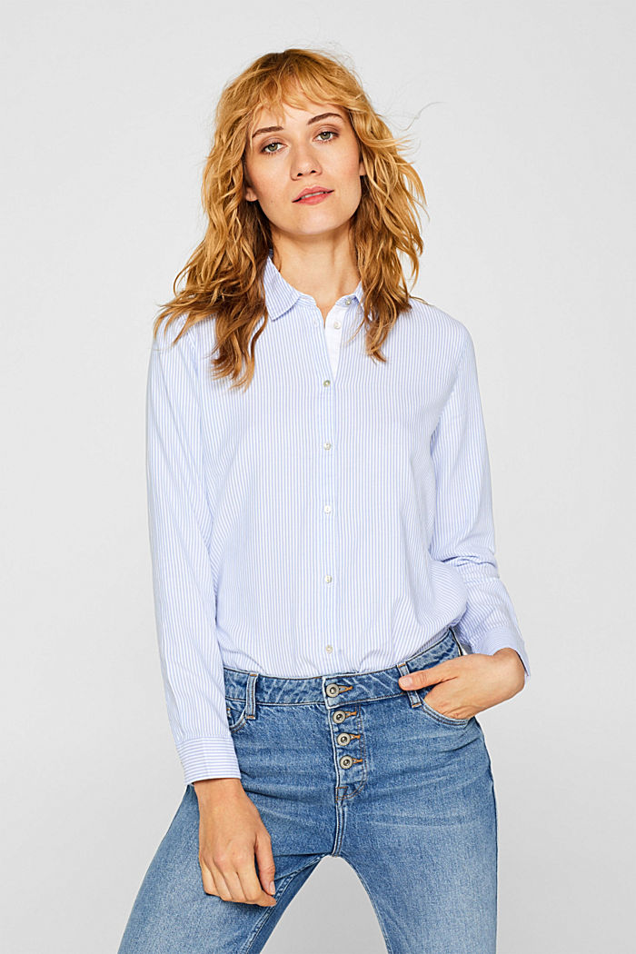 Striped blouse in 100% cotton