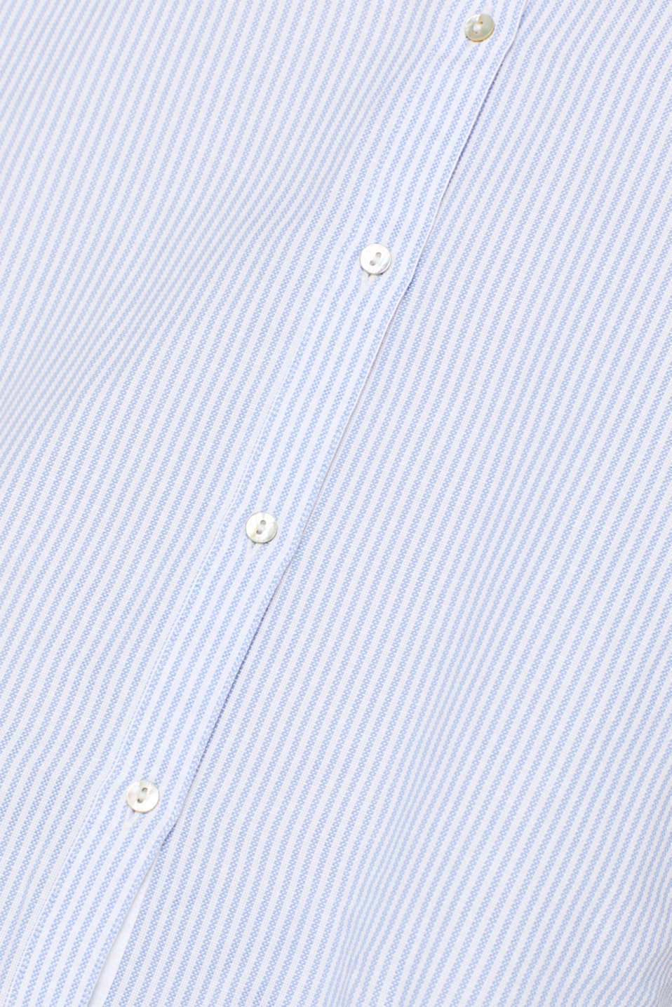 Striped blouse in 100% cotton, WHITE, detail image number 4