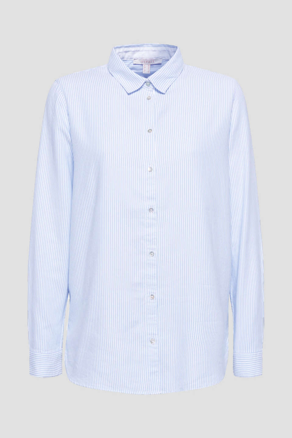 Striped blouse in 100% cotton, WHITE, detail image number 6