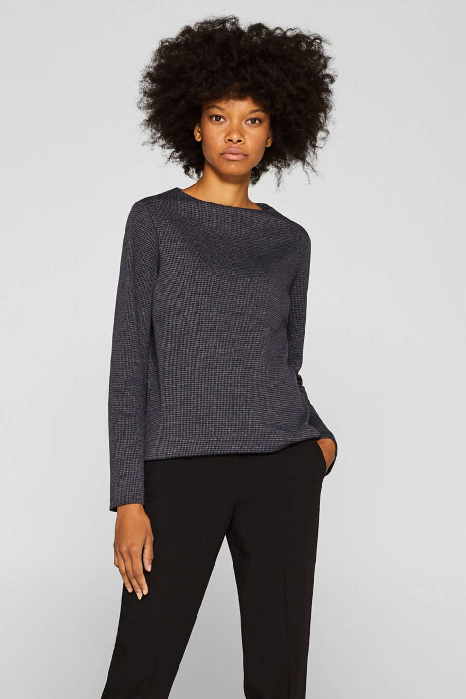 Esprit - Blouse top with stretch