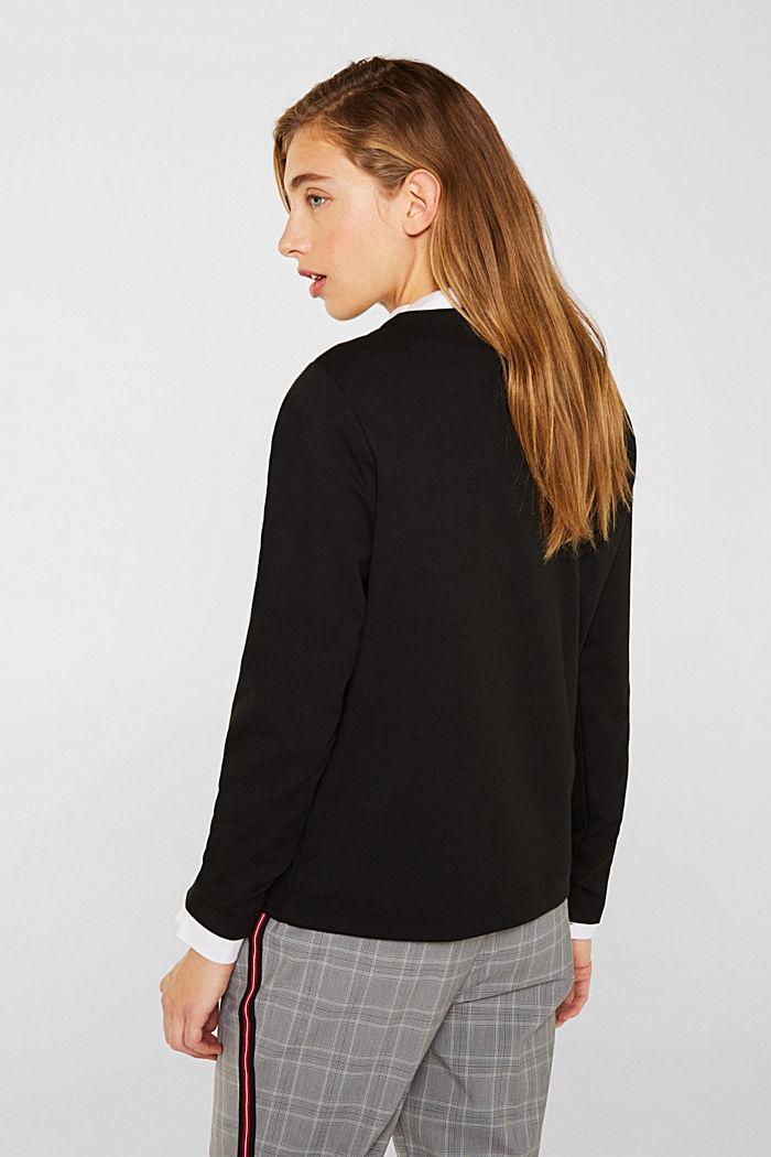 Kastiges Jersey-Stretch-Shirt, BLACK, detail image number 1