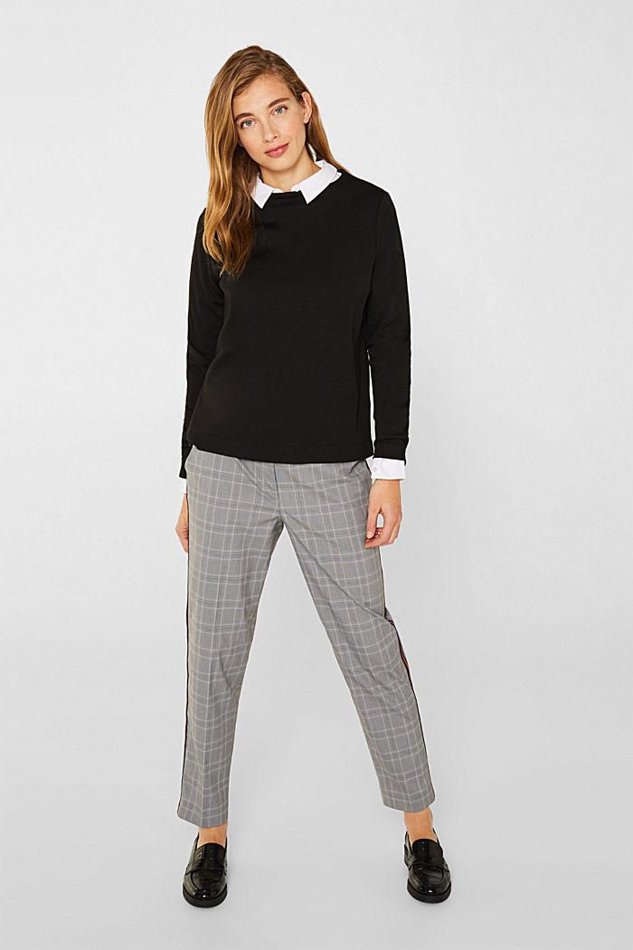 Kastiges Jersey-Stretch-Shirt, BLACK, detail image number 0