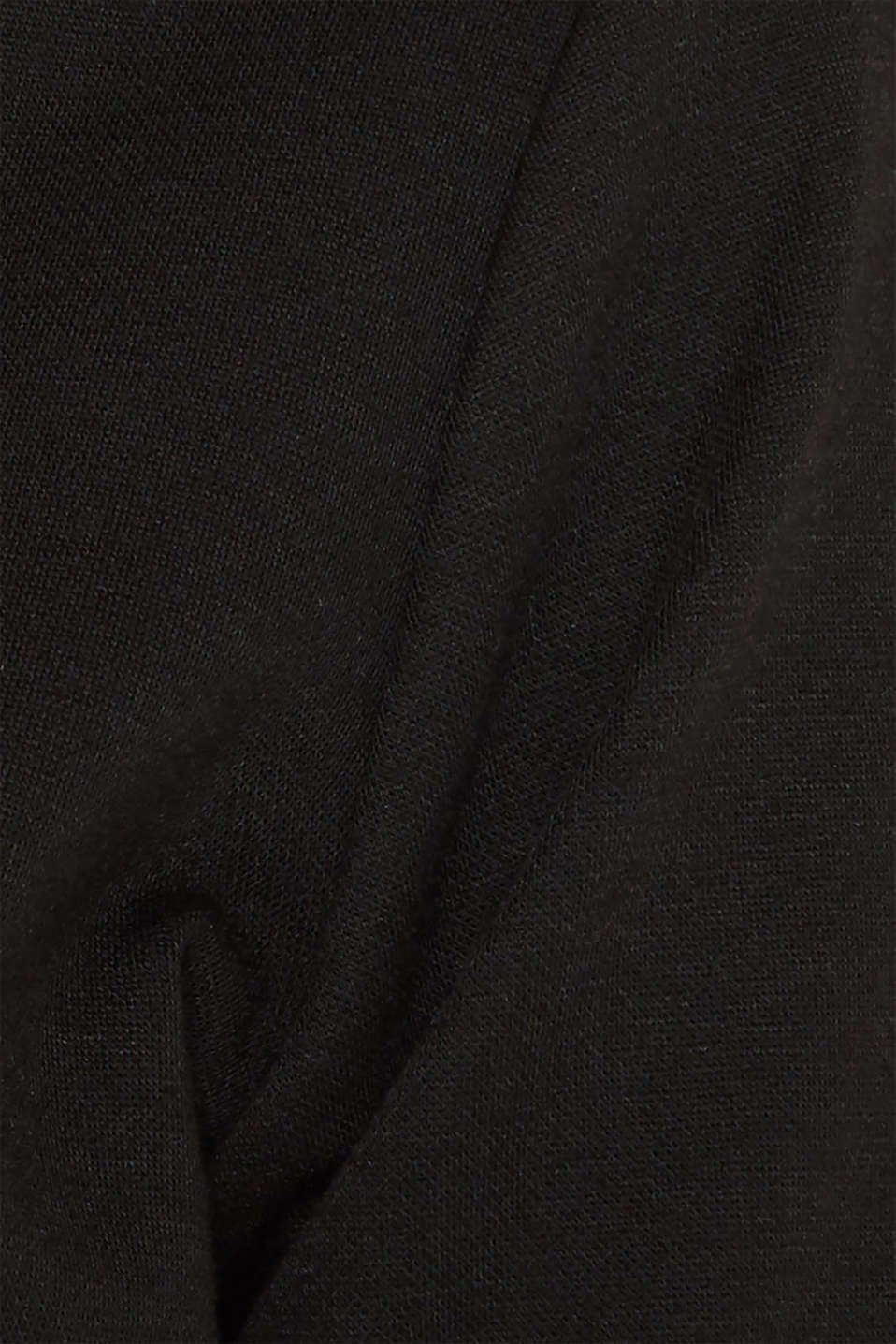 Boxy stretch jersey top, BLACK, detail image number 2