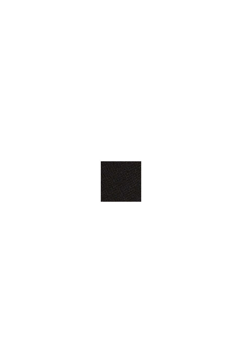 Sweat-shirt en jersey stretch à la coupe carrée, BLACK, swatch