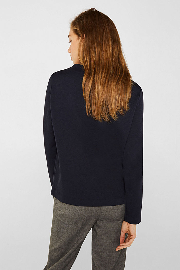 Boxy stretch jersey top, NAVY, detail image number 3