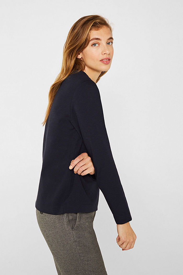 Boxy stretch jersey top, NAVY, detail image number 5