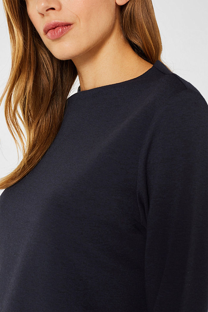Boxy stretch jersey top, NAVY, detail image number 2