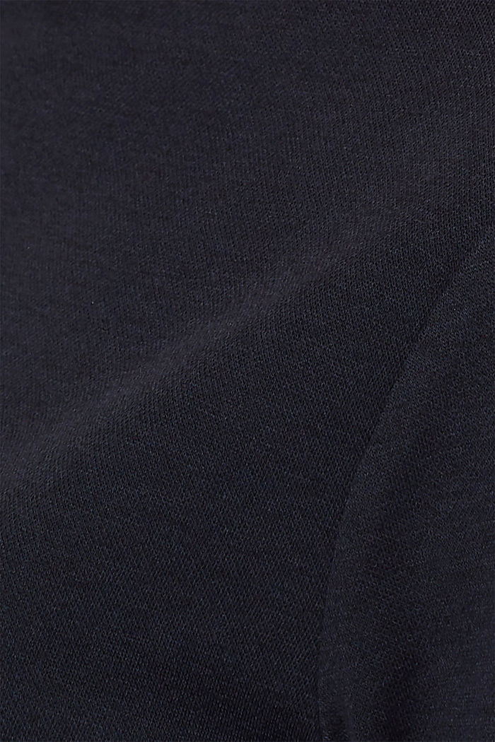 Boxy stretch jersey top, NAVY, detail image number 4