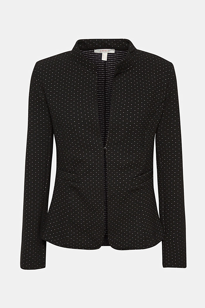 Stretch jersey blazer with polka dots