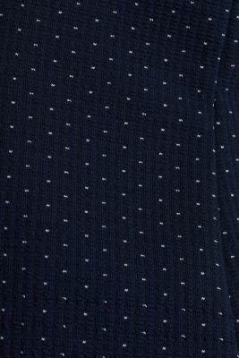 Stretch jersey blazer with jacquard polka dots, NAVY, detail