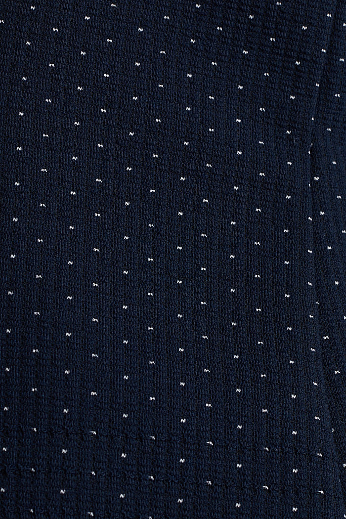 Stretch jersey blazer with polka dots, NAVY, detail image number 4
