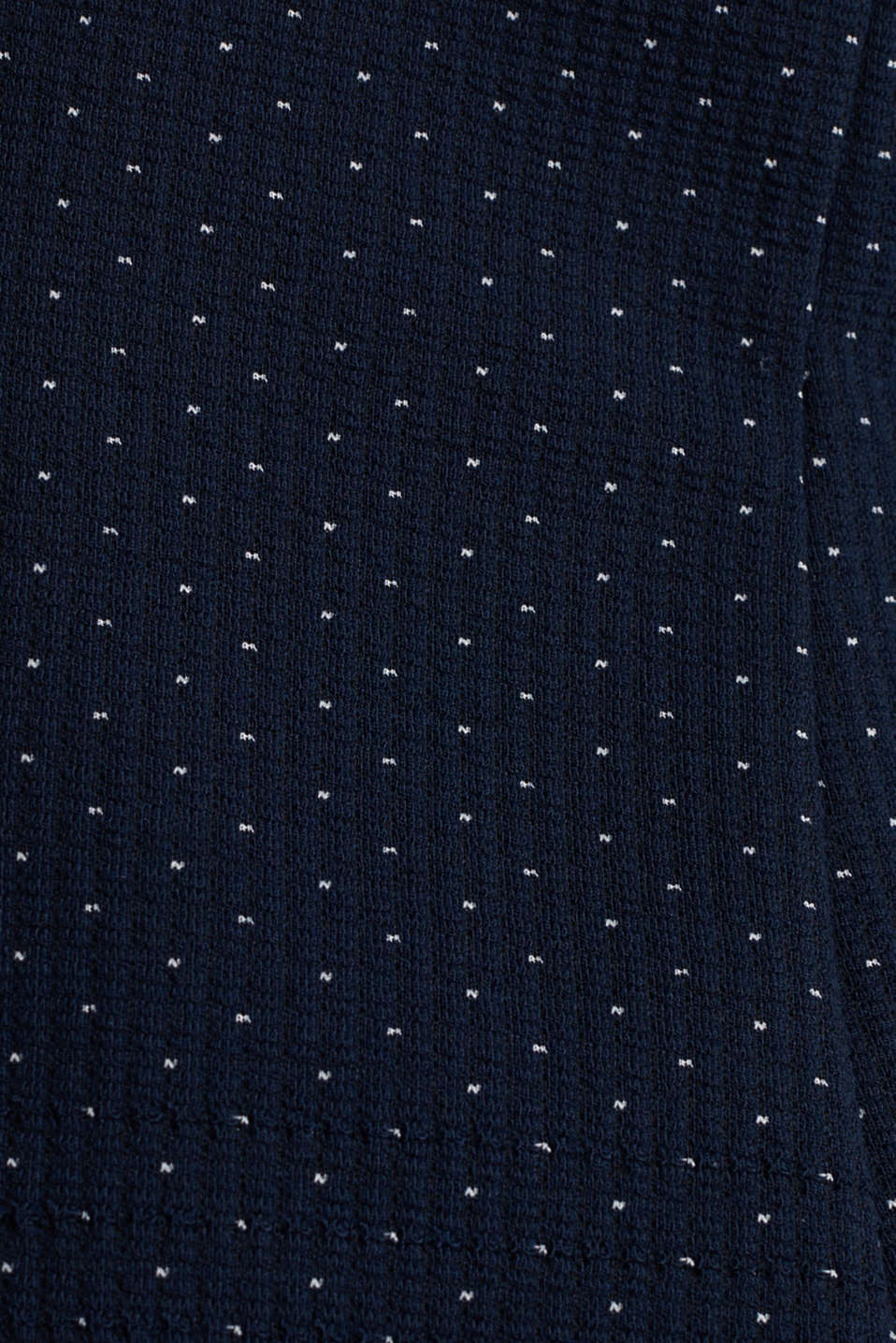 Stretch jersey blazer with jacquard polka dots, NAVY, detail image number 4