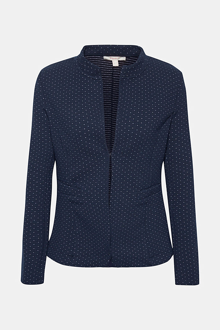 Stretch jersey blazer with polka dots, NAVY, detail image number 5