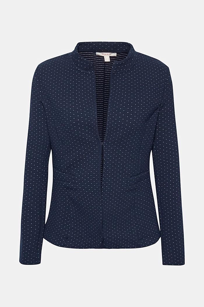 Stretch jersey blazer with polka dots