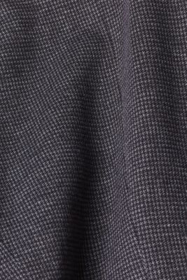 Jersey houndstooth blazer, GREY BLUE, detail