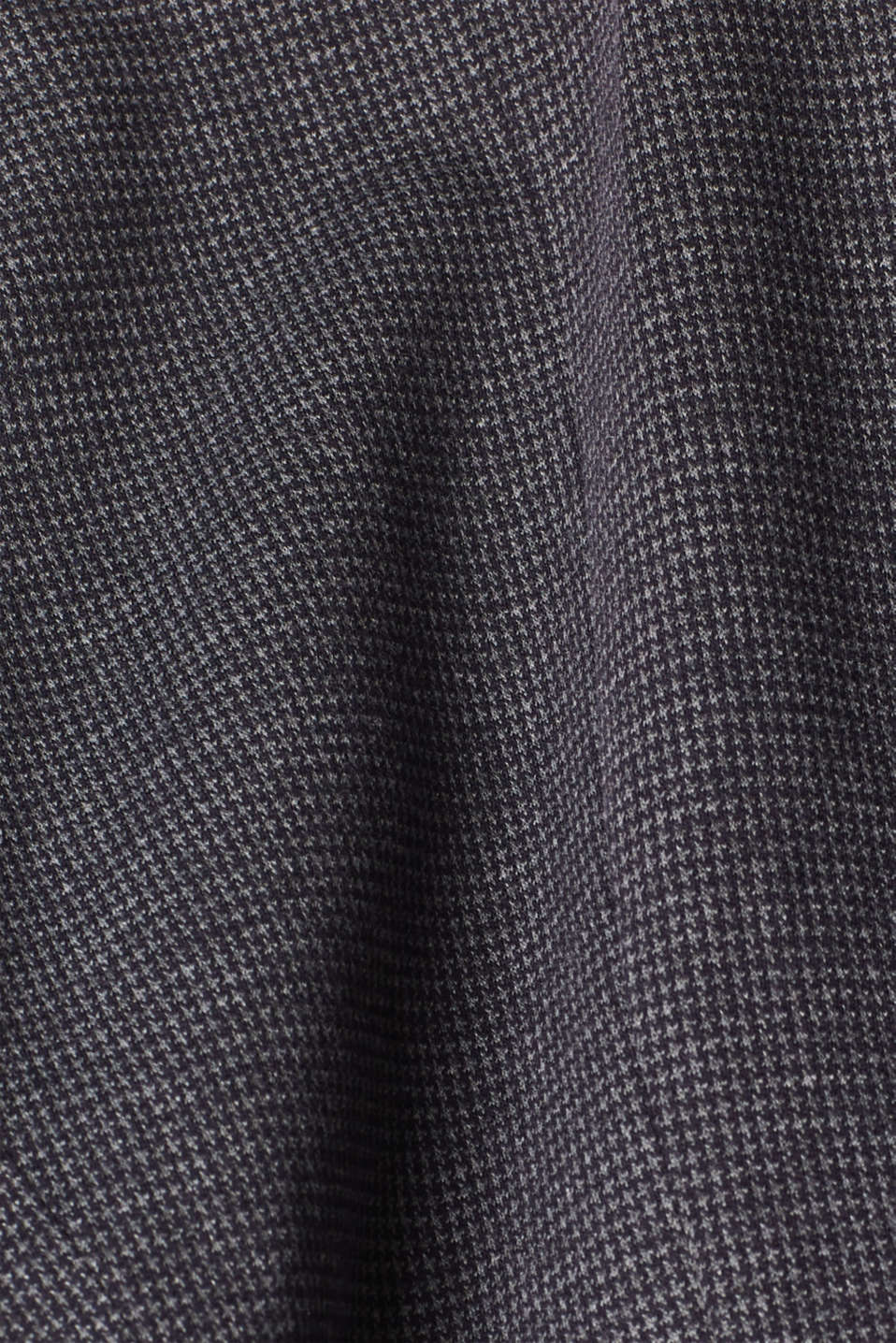 Jersey houndstooth blazer, GREY BLUE, detail image number 4