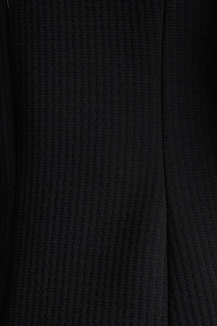 Textured stretch jersey blazer, BLACK, detail image number 4