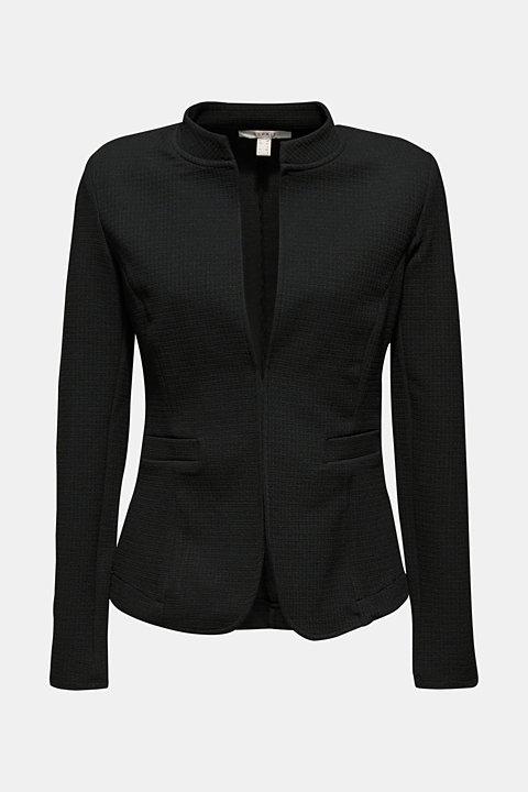 Textured stretch jersey blazer