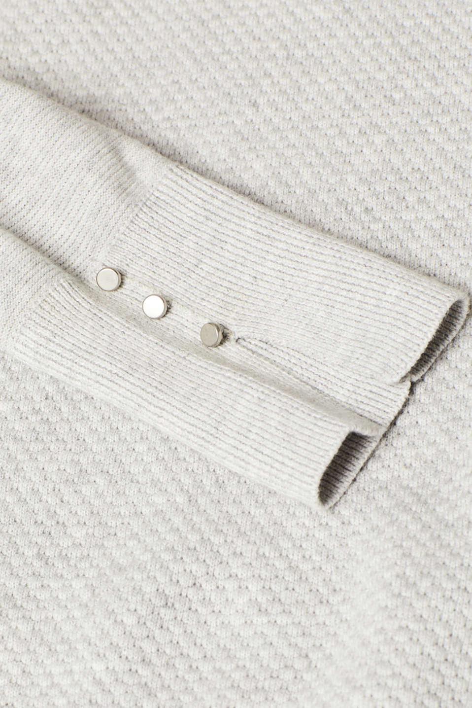 Sweaters, LIGHT GREY 5, detail image number 4