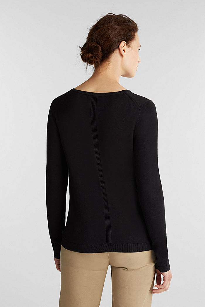 Jumper with organic cotton, BLACK, detail image number 3