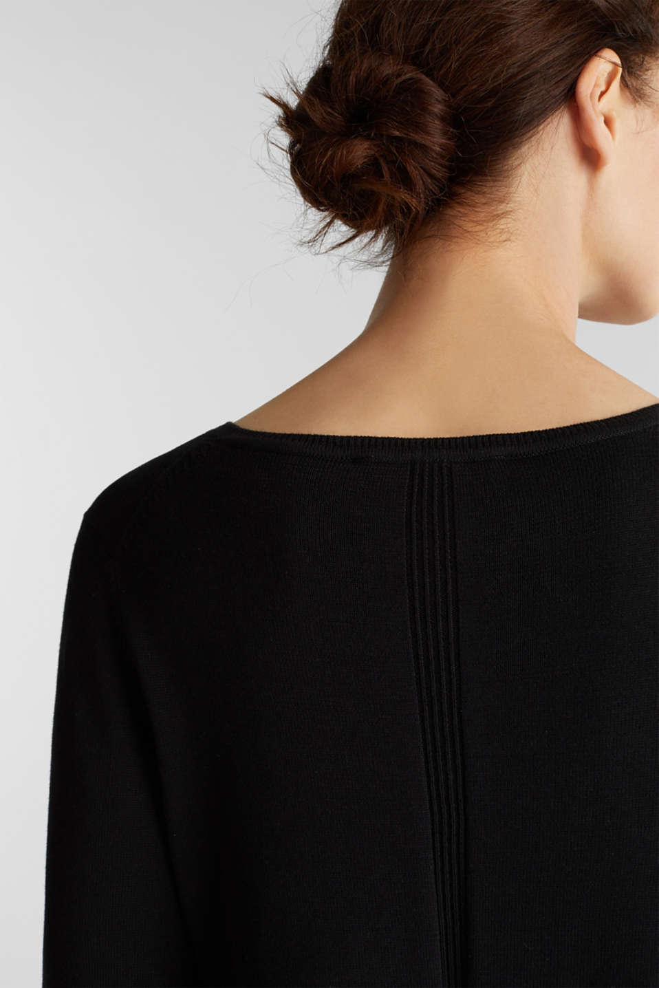Jumper with organic cotton, BLACK, detail image number 2