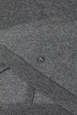 Jumper with organic cotton, DARK GREY 5, detail