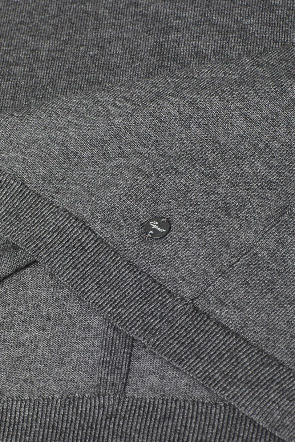 Jumper with organic cotton, DARK GREY 5, detail image number 4