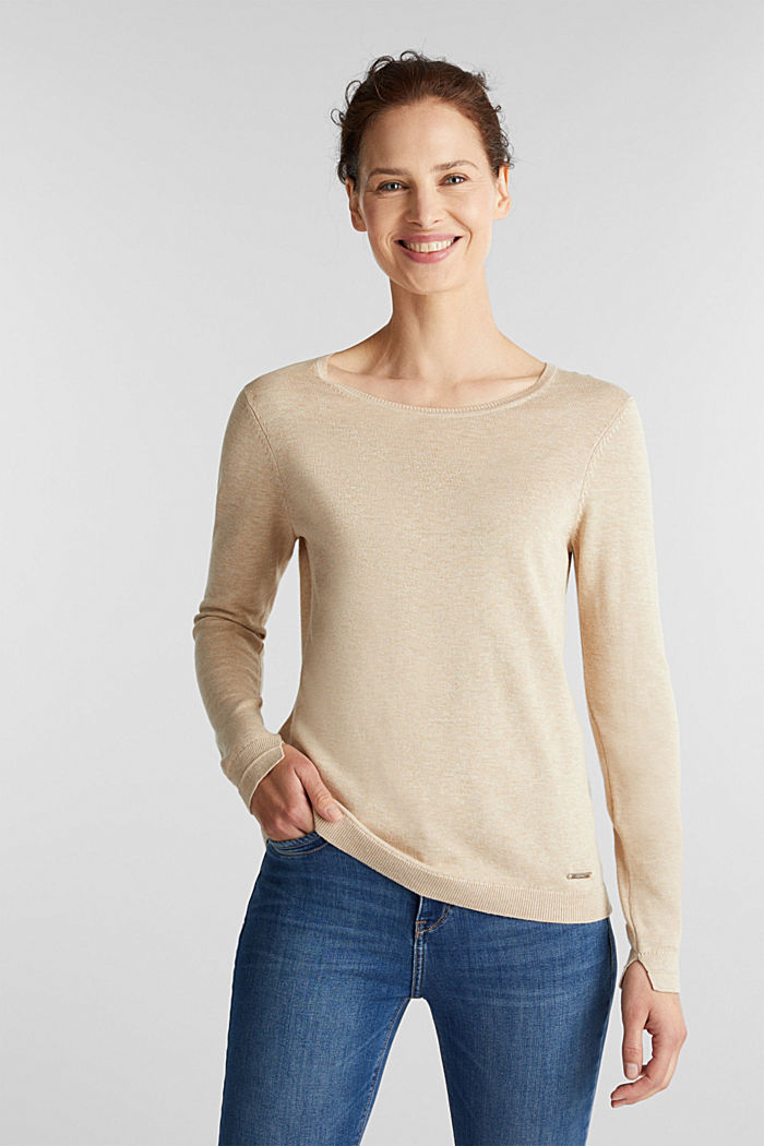 Jumper with organic cotton, BEIGE, detail image number 0