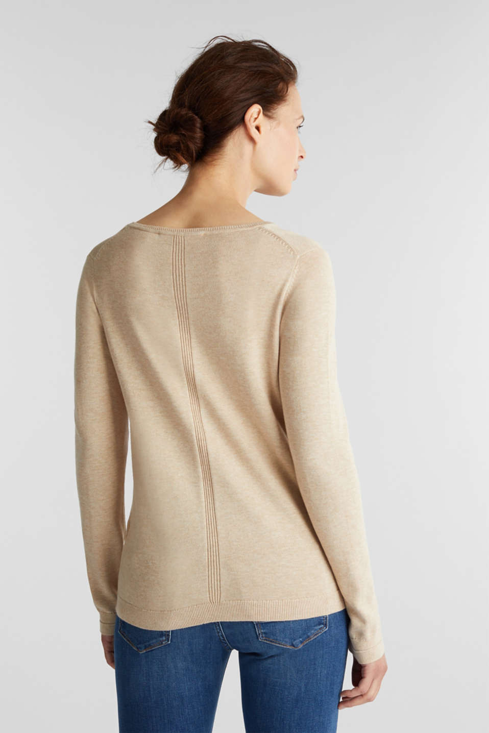 Jumper with organic cotton, BEIGE 5, detail image number 3