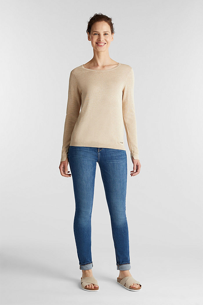Jumper with organic cotton, BEIGE, detail image number 1