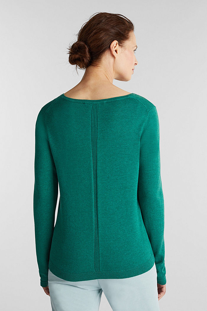 Jumper with organic cotton, DARK GREEN, detail image number 3