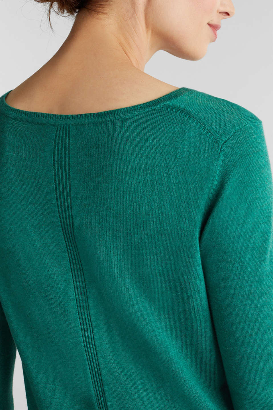 Jumper with organic cotton, DARK GREEN 5, detail image number 2