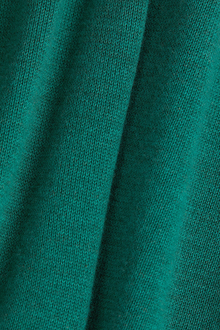Jumper with organic cotton, DARK GREEN, detail image number 4