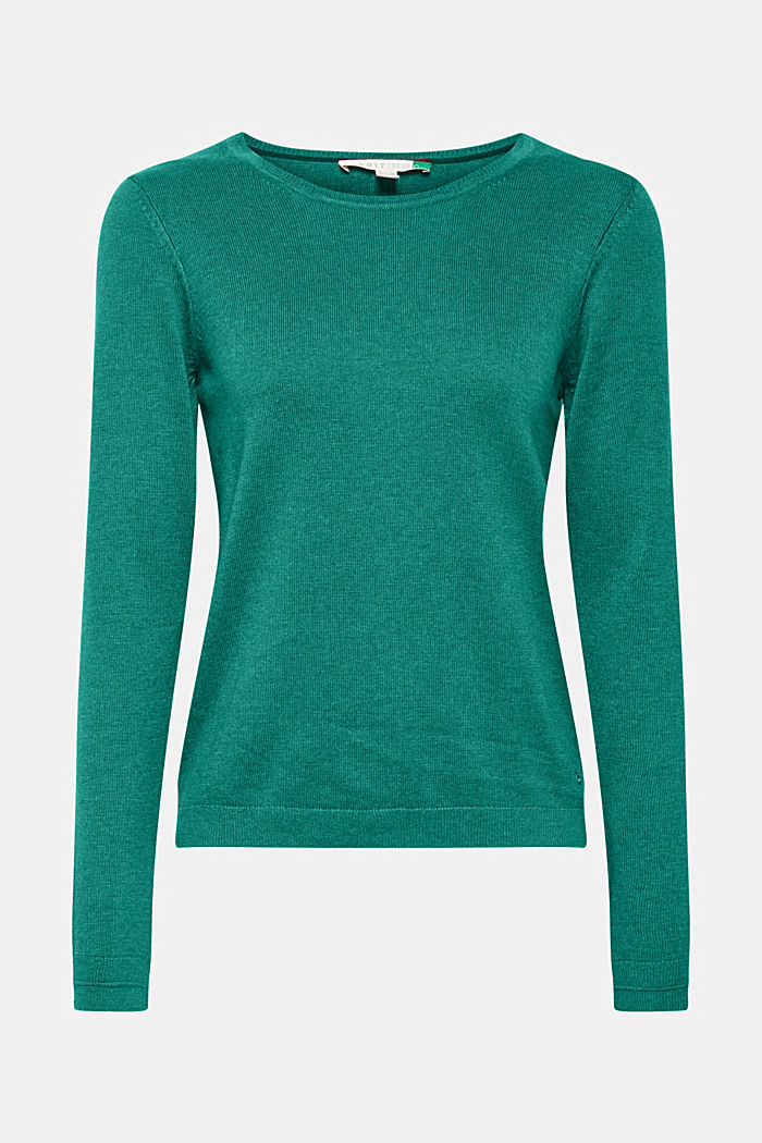 Jumper with organic cotton, DARK GREEN, detail image number 5