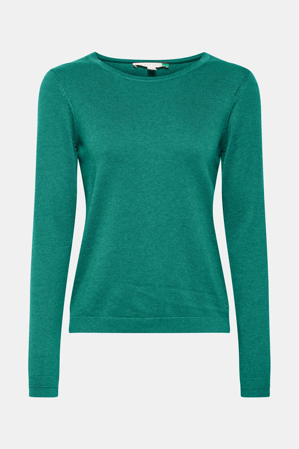 Jumper with organic cotton, DARK GREEN 5, detail image number 5
