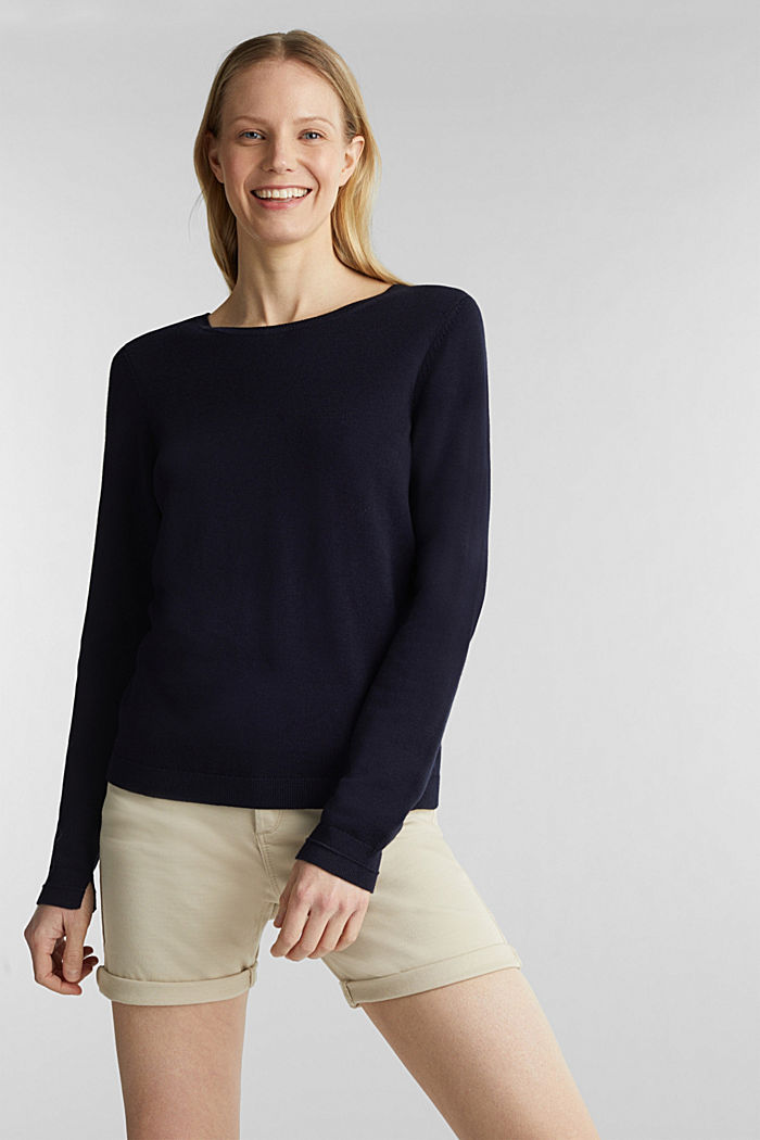 Pullover mit Organic Cotton, NAVY, detail image number 0