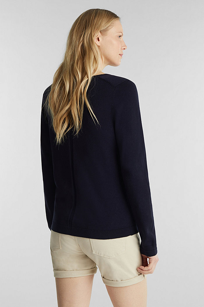 Pullover mit Organic Cotton, NAVY, detail image number 2