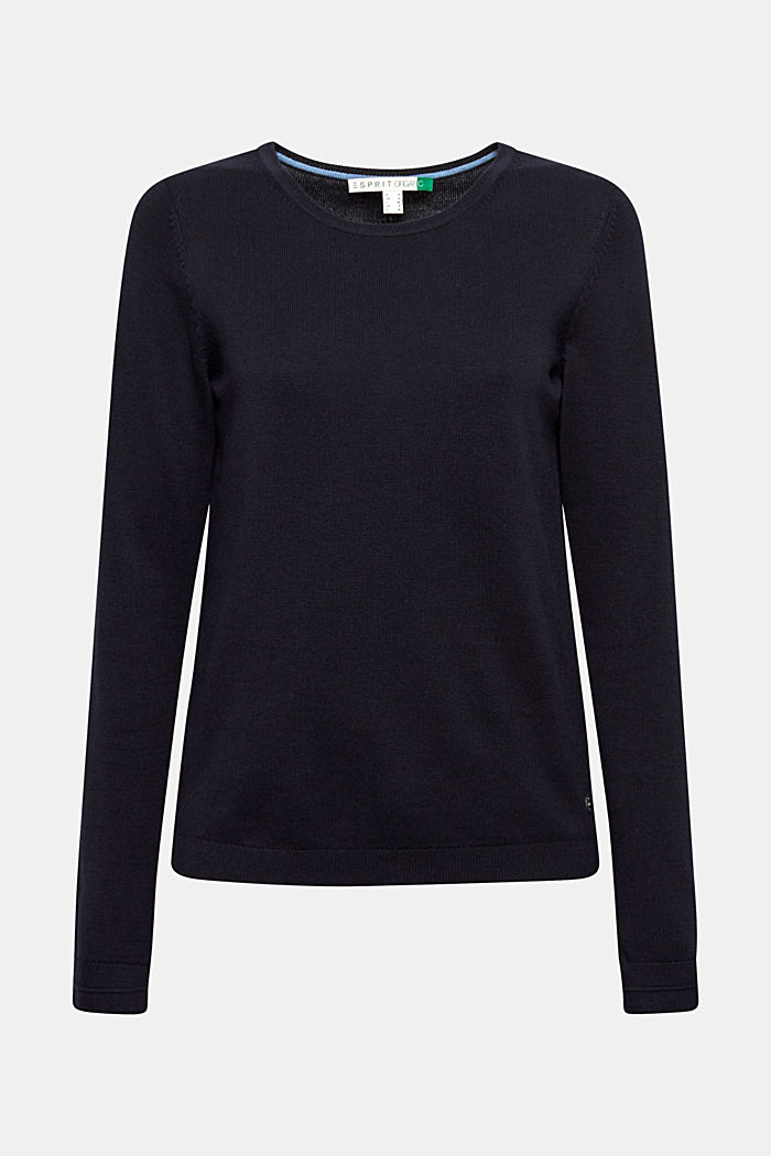 Pullover mit Organic Cotton, NAVY, detail image number 7