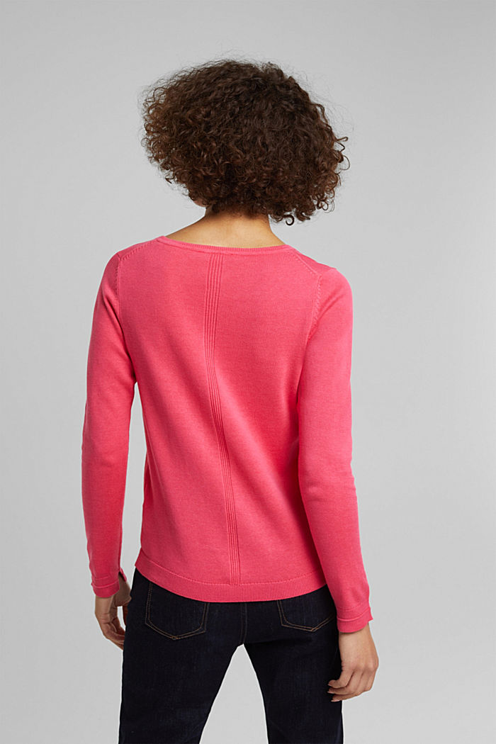 Jumper with organic cotton, PINK FUCHSIA, detail image number 3