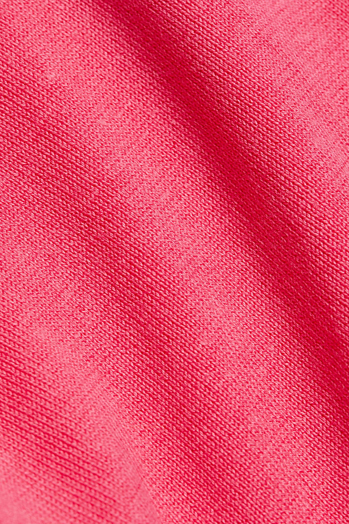 Jumper with organic cotton, PINK FUCHSIA, detail image number 4