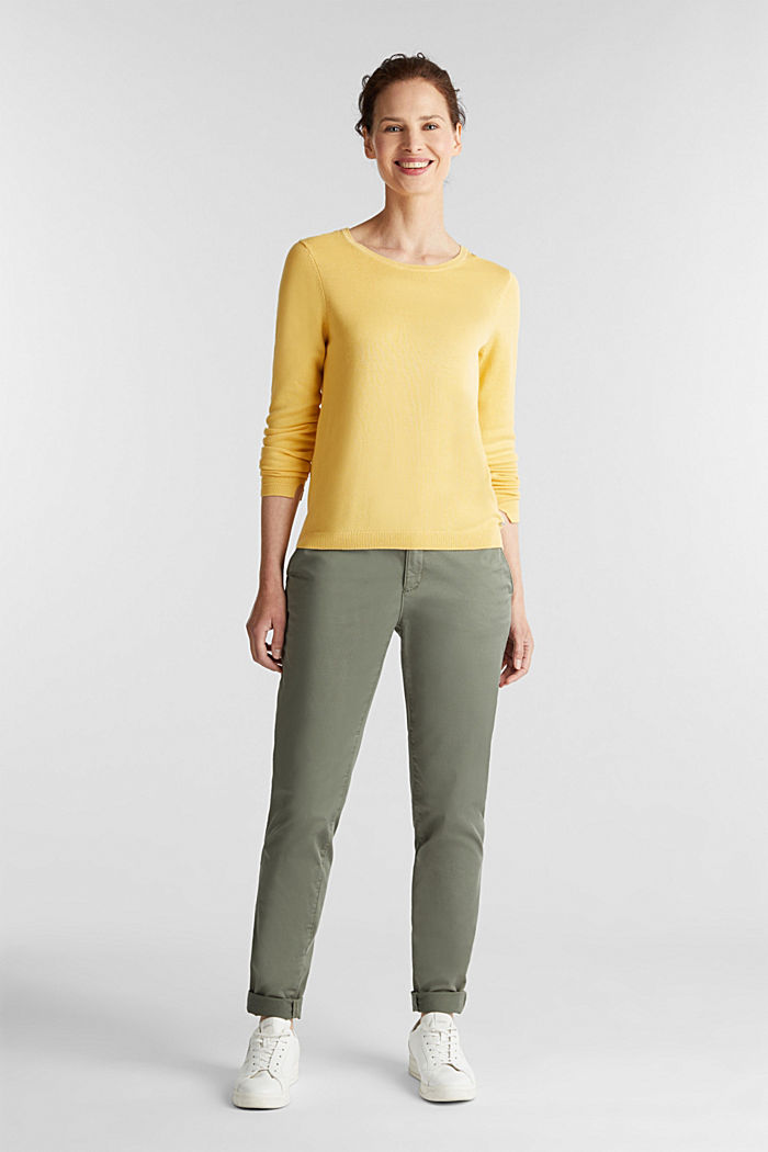 Jumper with organic cotton, YELLOW, detail image number 1