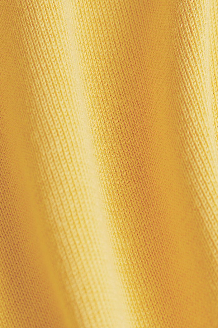 Jumper with organic cotton, YELLOW, detail image number 4
