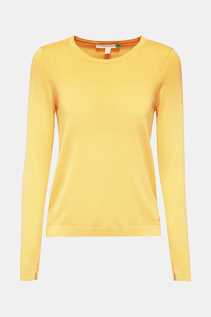 Jumper with organic cotton, YELLOW, detail image number 5