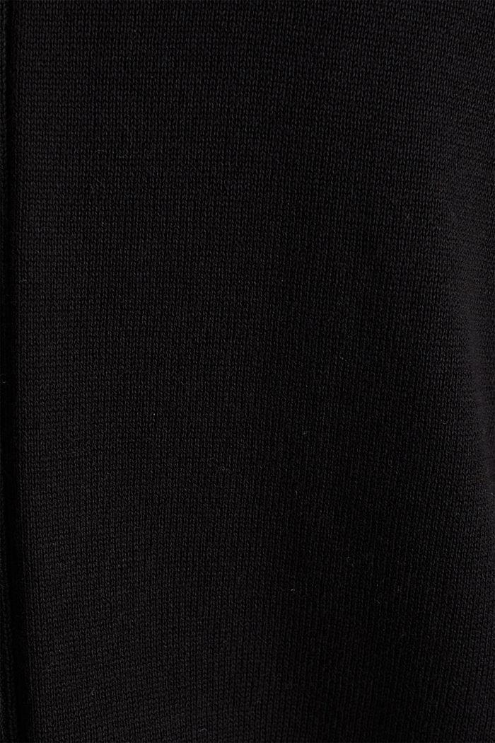 Cardigan con cotone biologico, BLACK, detail image number 4