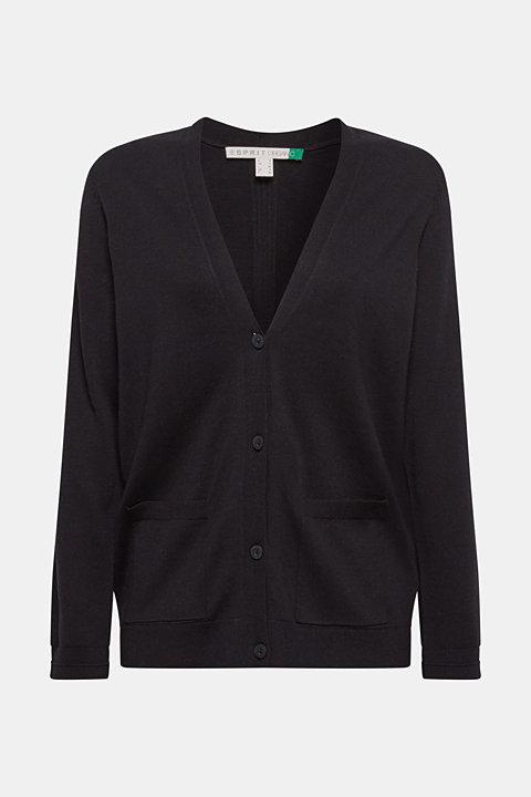 Cardigan with organic cotton