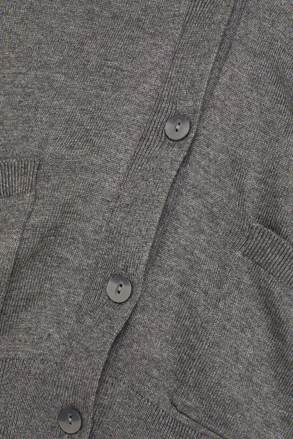 Cardigan with organic cotton, DARK GREY 5, detail image number 4