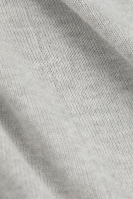 Cardigan with organic cotton, LIGHT GREY 5, detail